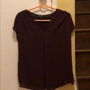 Inverted Pleat V-Neck Top